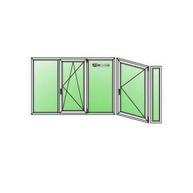 Остекление балконов - типовой балкон п-44 2240-890-270х1520h.