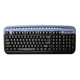 Oklick Oklick 320 M Multimedia Keyboard Blue USB+PS/2