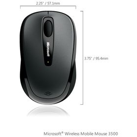 MOUSE USB OPTICAL WRL MOBILE 3500 GRAY GMF-00002 MS