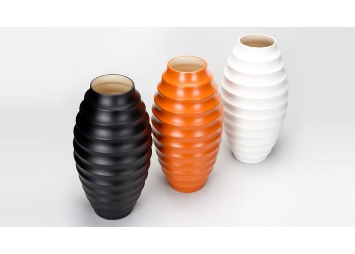 Стильные керамические вазы аксессуары оранж белые фото